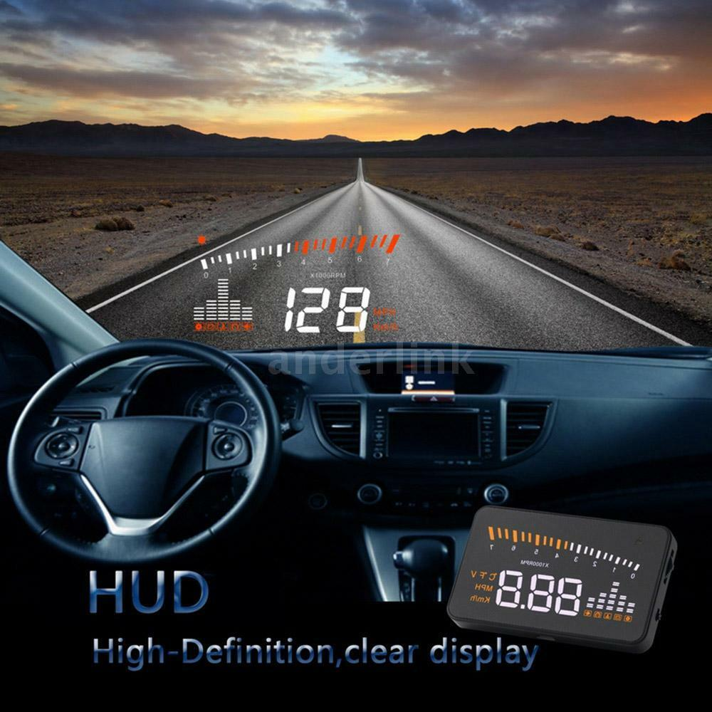 3 hd car hud windshield head up display speeding warning obd2 connector 9 16v ebay. Black Bedroom Furniture Sets. Home Design Ideas