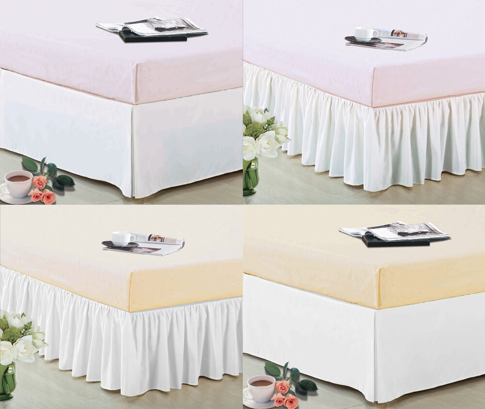 14 drop pleated dust ruffle bed skirt box spring cover for Luxury hotel 660 collection bed skirt