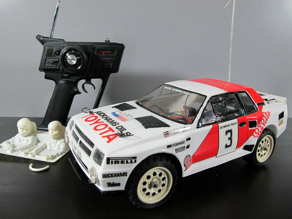 vintage rare tamiya 1 12 rc toyota celica gr b rally futaba remote light. Black Bedroom Furniture Sets. Home Design Ideas