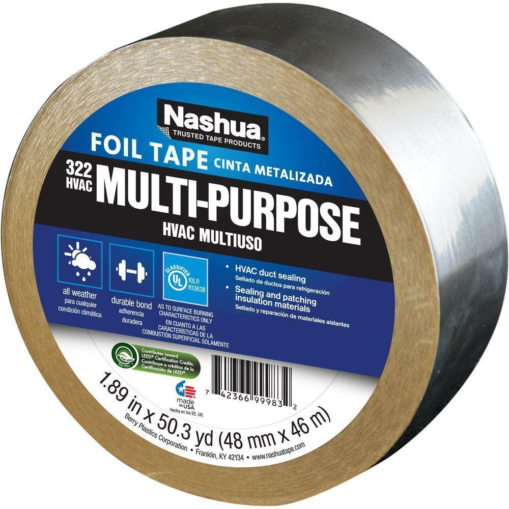 Nashua 1207792 322 Aluminum Multi Purpose Hvac Foil Tape
