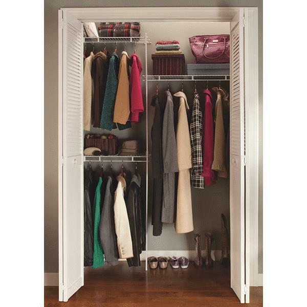 White Closetmaid 5 Foot Shelf And Rod Closet Organizing