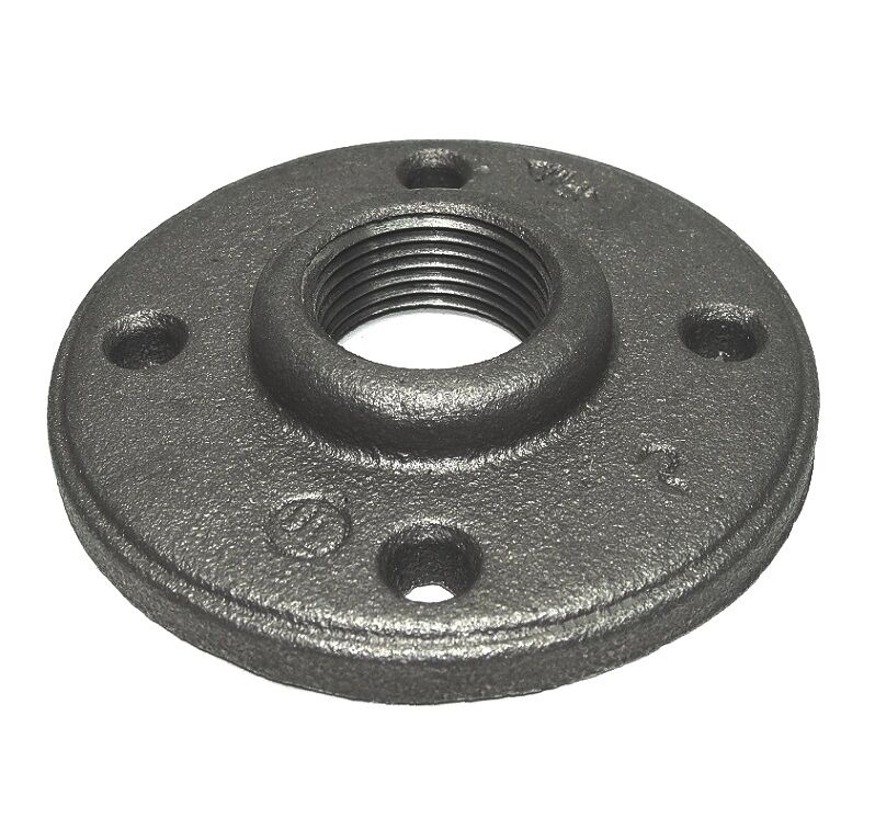 Inch black iron pipe malleable floor flange fittings