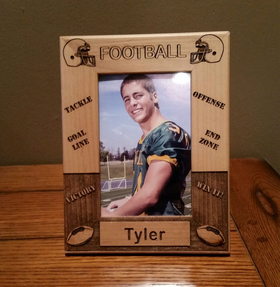 Laser Engraved Personalized Football Frame 4x6 Photo Ebay