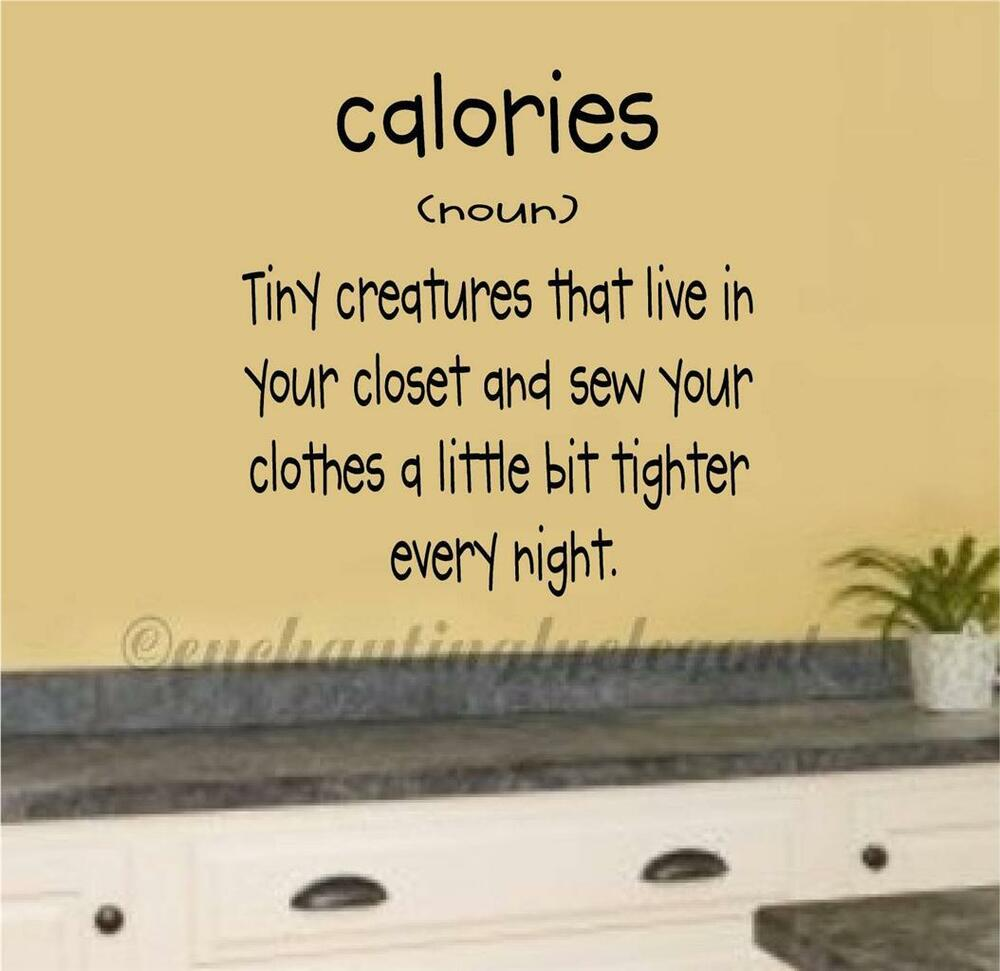 Calories definition vinyl decal wall sticker words for Decor definition