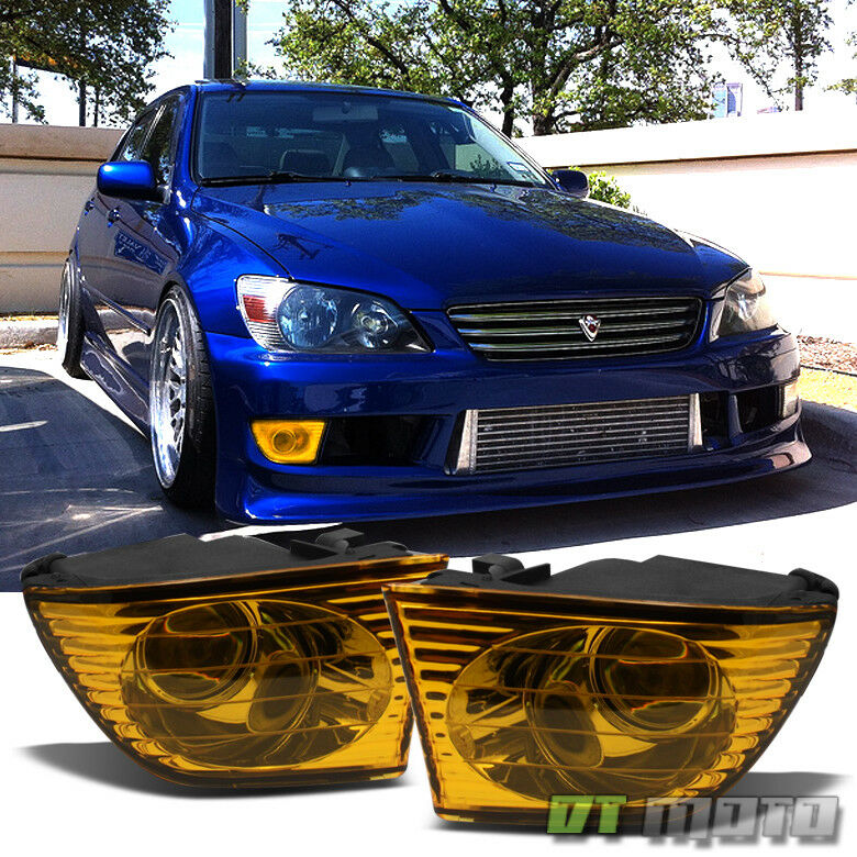 2001 2005 lexus is300 jdm yellow projector fog lights. Black Bedroom Furniture Sets. Home Design Ideas
