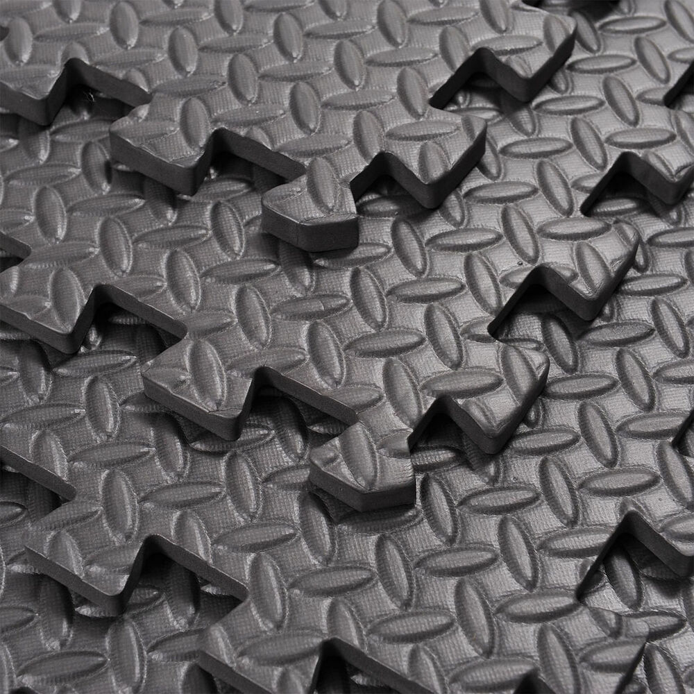 EVA INTERLOCKING SOFT FOAM FLOOR MATS GYM GARAGE EXERCISE