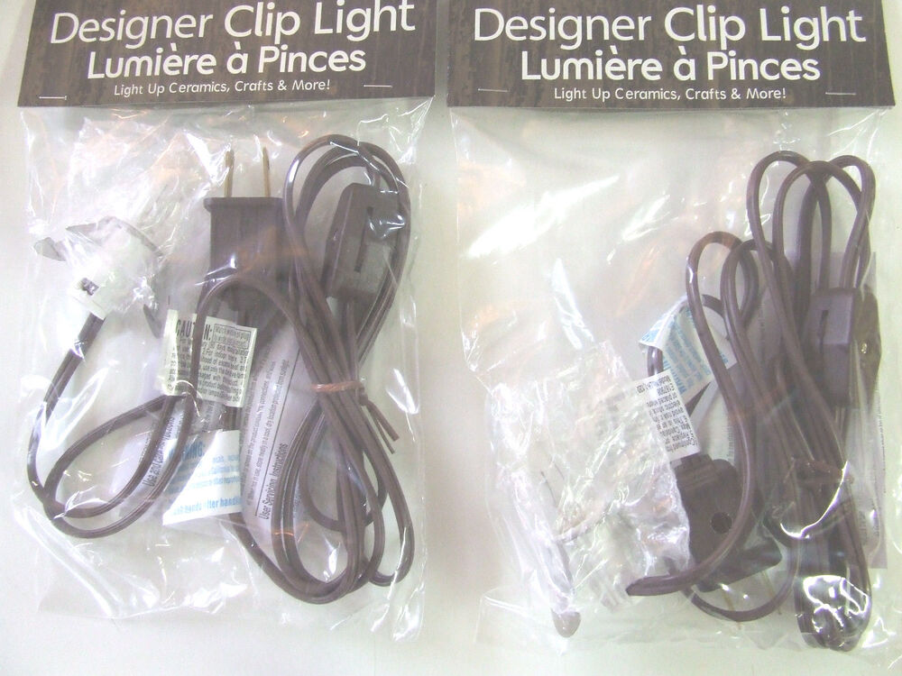 2 single clip light villages crafts etc brown new on off for Clip lights for crafts