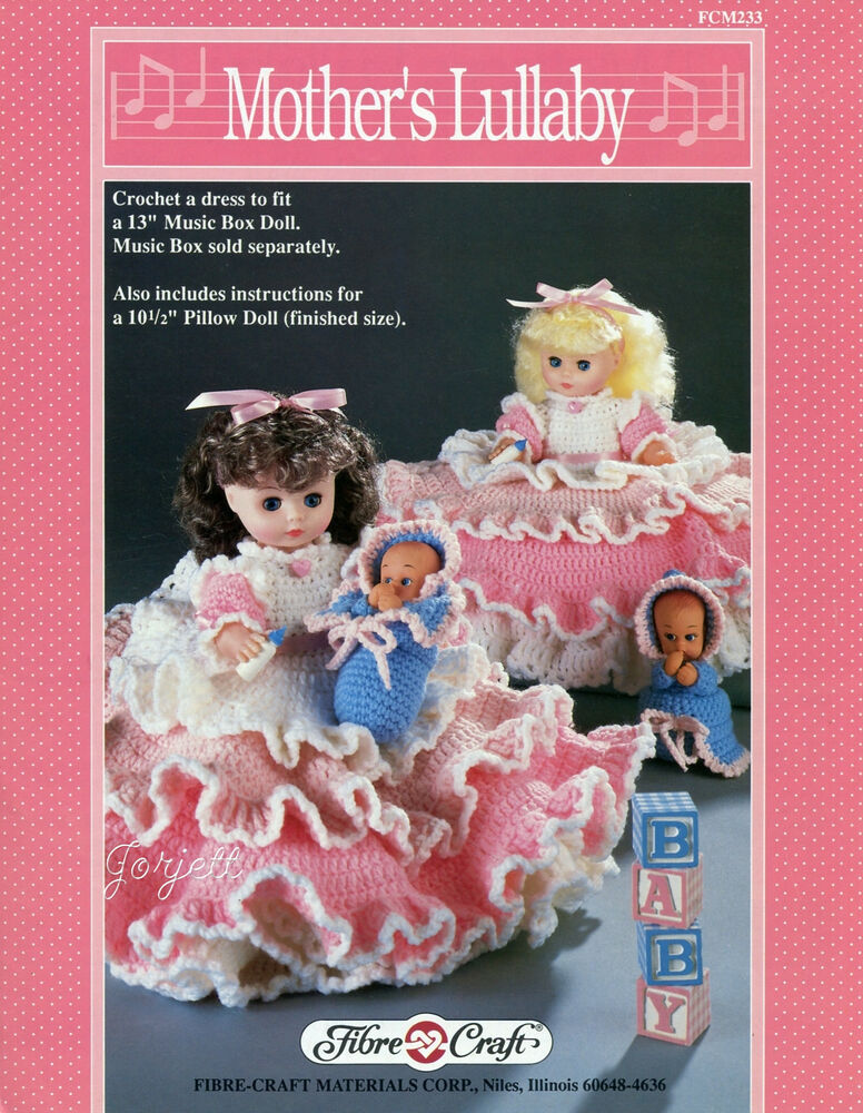 Mother 39 s lullaby fibre craft crochet patterns for 13 for Fibre craft 18 inch doll