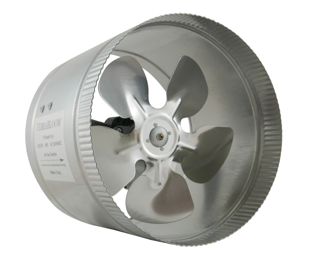 Quiet Duct Fan : Terrabloom quot inch duct booster inline fan blower