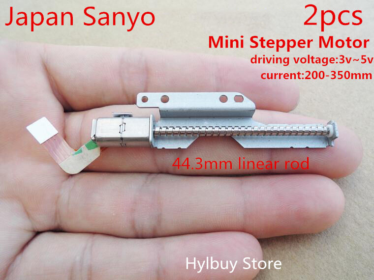 2pcs mini micro stepper motor 3v 5v 2 phase long shaft for Miniature stepper motors with linear actuation