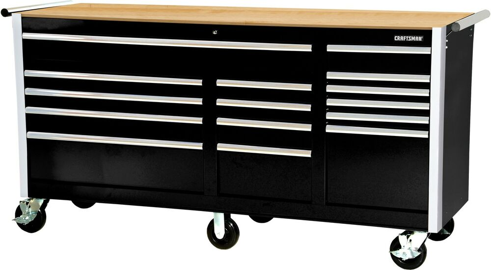 Mechanics 8 Drawer Tool Box Chest Roller Cabinet: Tool Box Ball Bearing 15 Drawer Slides Cabinet Hard Wood