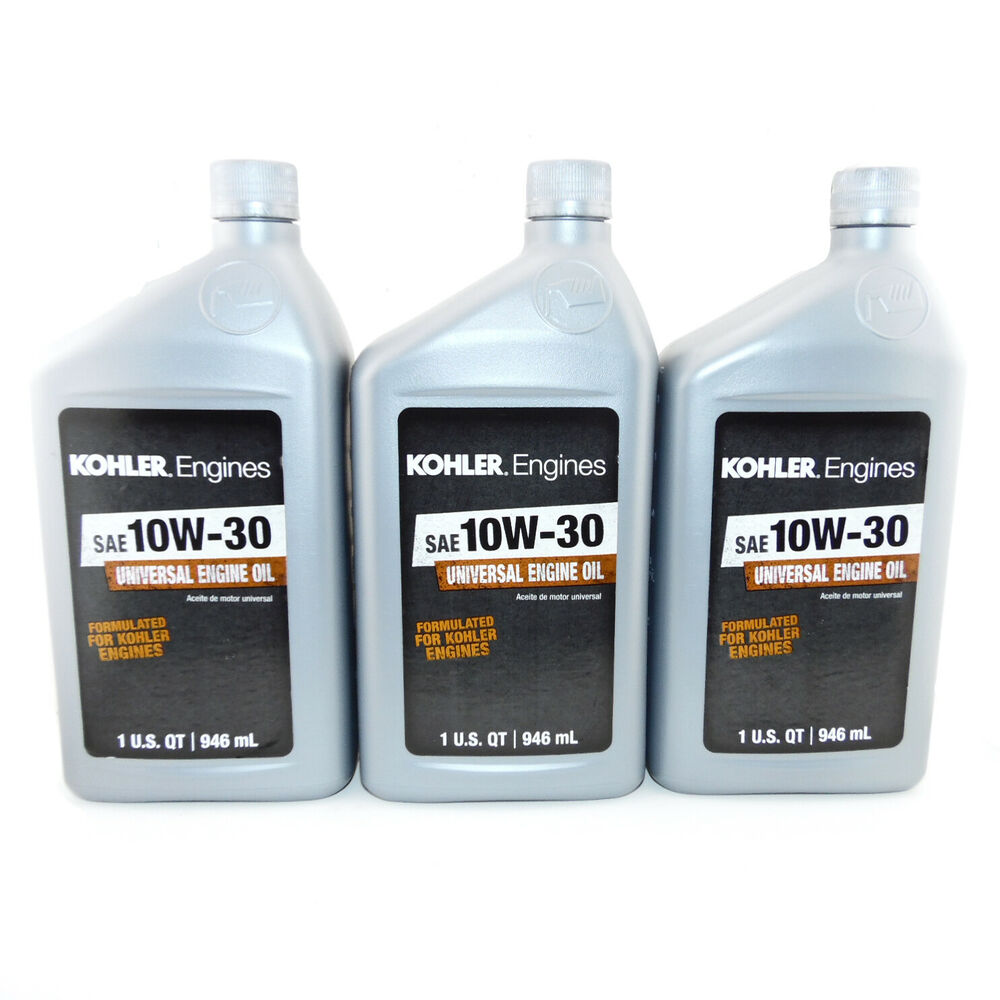 3 kohler engine 10w 30 motor oil 1 quart bottles ebay for Quart of motor oil