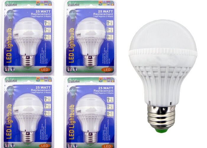 X4 25 Watt Replacement Led Light Bulbs Consumption Of Approx 3 Watts Ebay
