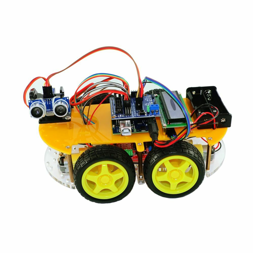 Bluetooth ultrasonic smart car robot starter kit for
