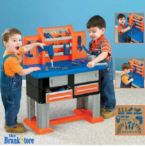 Best Pretend Play Toys For Kids : Toy work bench kids workbench tool set toddler workshop