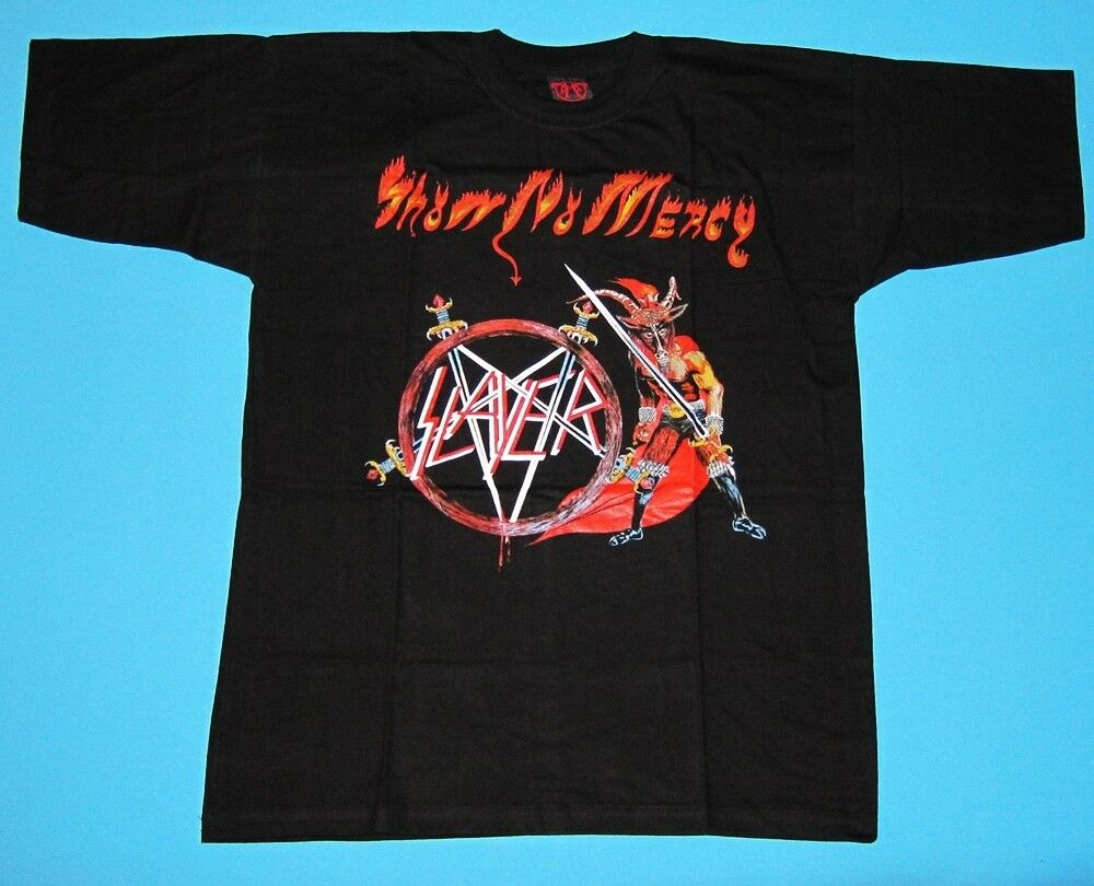 slayer show no mercy t shirt new ebay. Black Bedroom Furniture Sets. Home Design Ideas