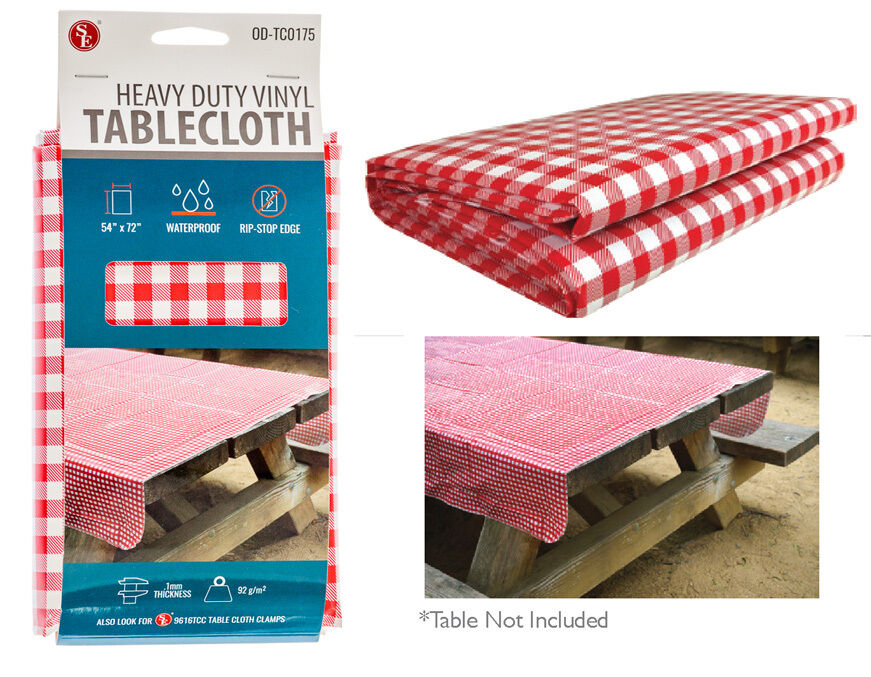 Vintage Red Checkered Pattern Vinyl Tablecloth Heavy Duty  : s l1000 from www.ebay.com size 871 x 677 jpeg 145kB