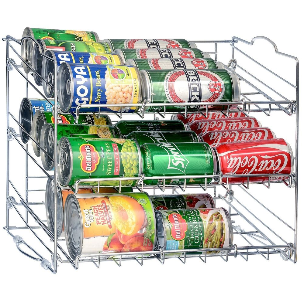 36 Can Rack Holder Organizer Storage Kitchen Shelf Food