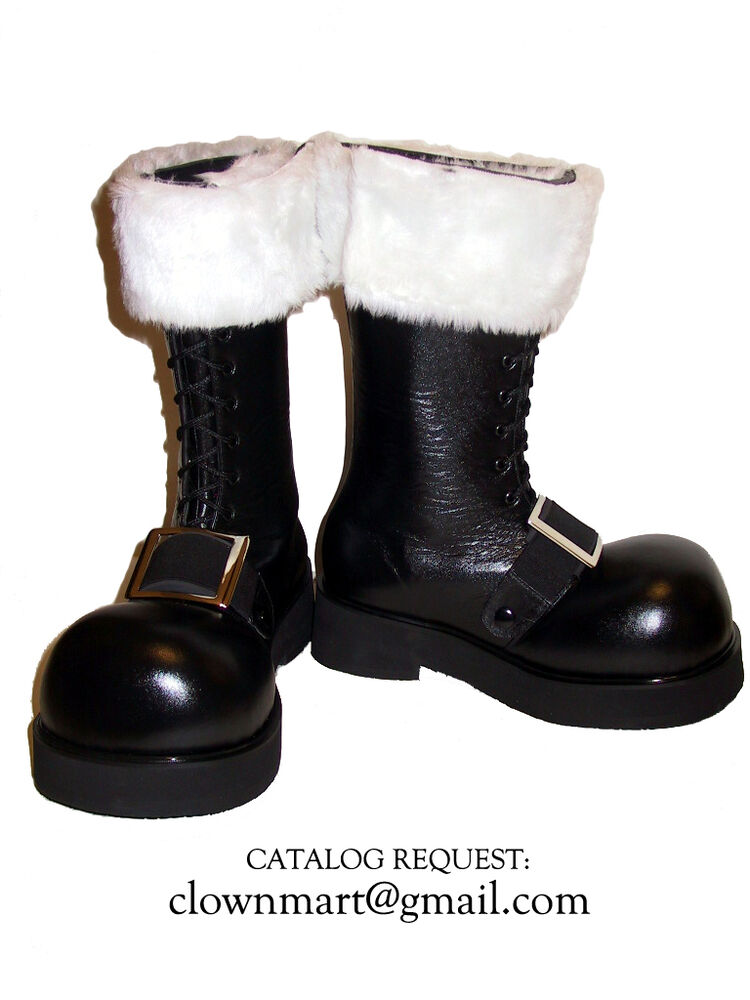 Professional santa claus boots shoes costume christmas