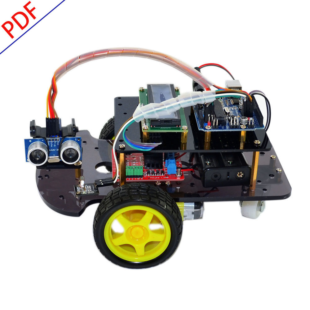Ultrasonic remote control smart car diy robot starter kit