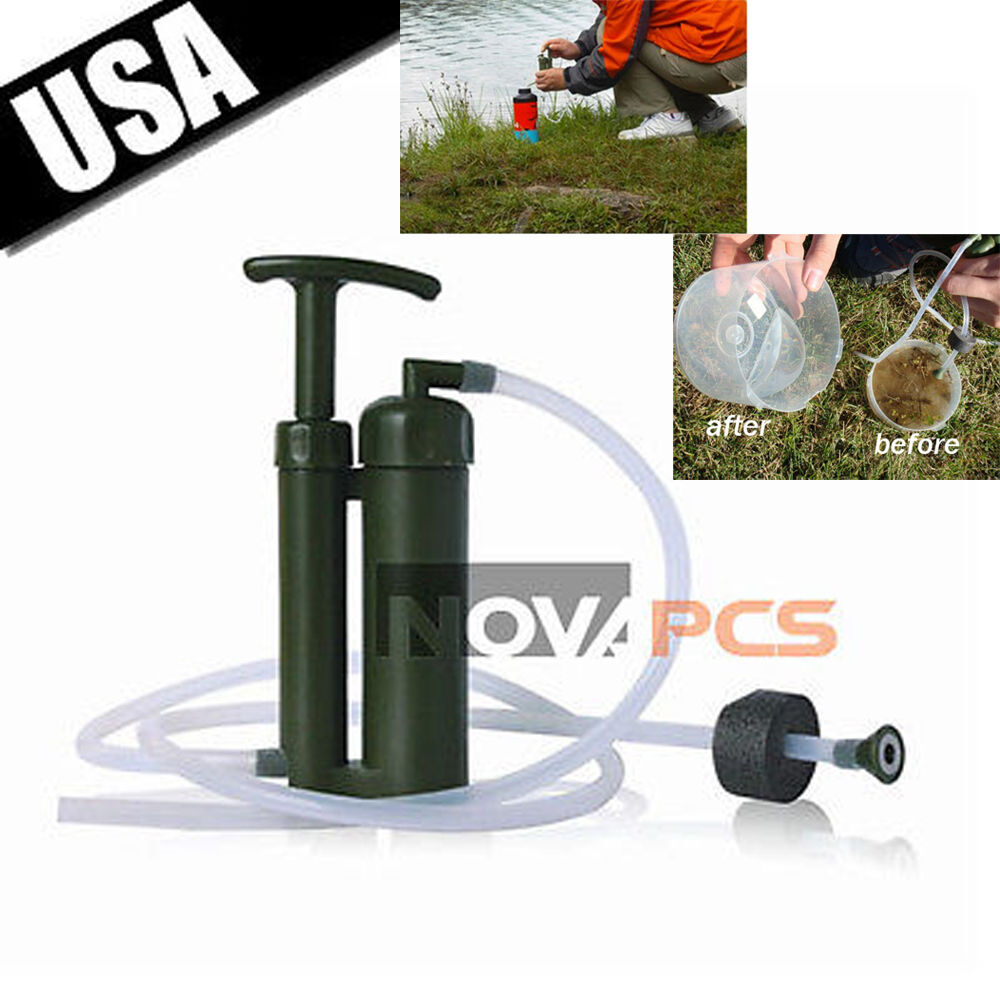 Portable Survival Gear : Camping portable personal water filter purification