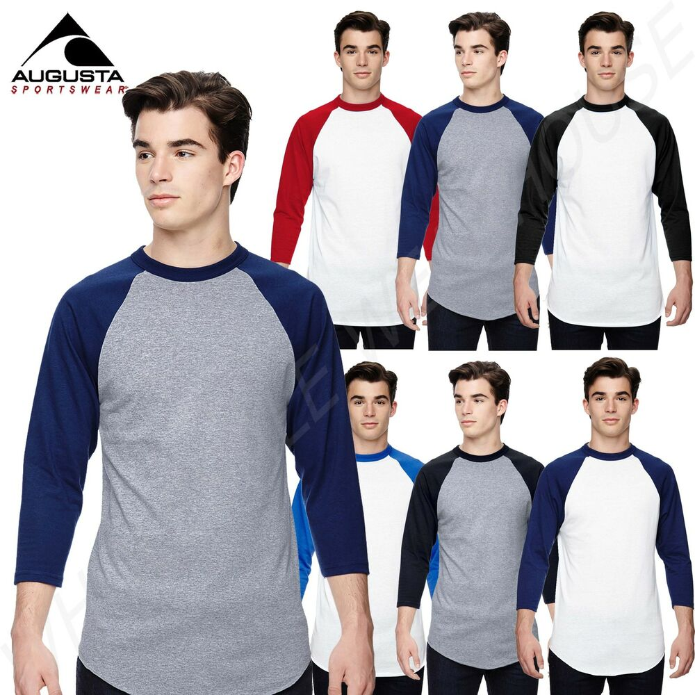 8e18da63ccb Details about NEW Augusta Sportswear Men s 3 4 Sleeve Baseball Jersey S-XL T -Shirt R-420