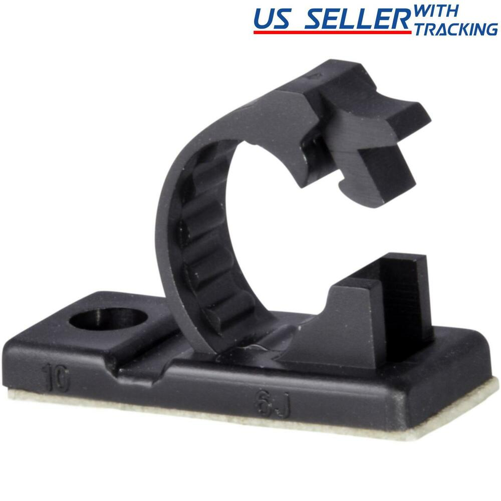 25x Adhesive Cable Management Clips Fixed Clamp W Screw