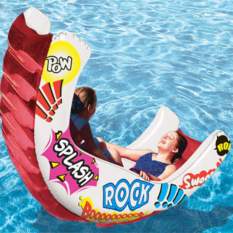 Swimming pool aqua rocker pool float lounge pool toy ebay - Can you over shock a swimming pool ...
