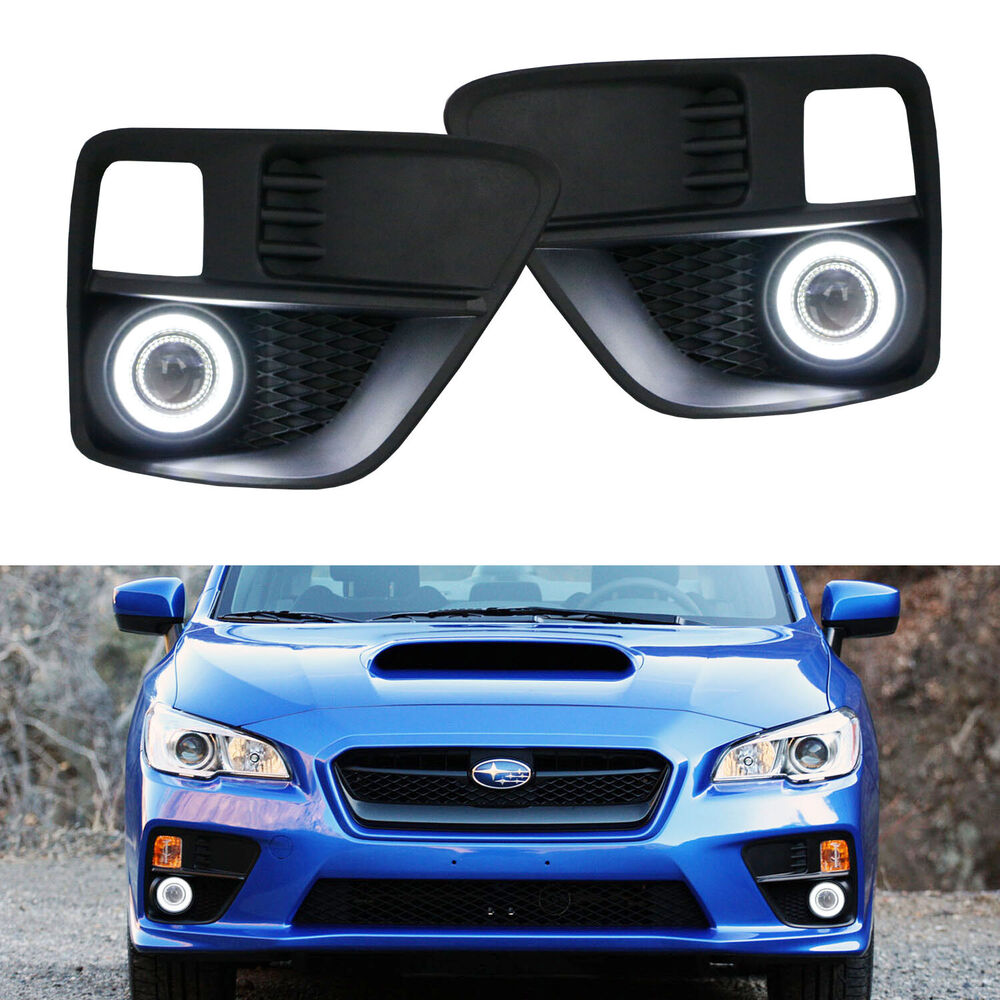 Complete Set Projector Fog Light Kit With Led Halo Ring