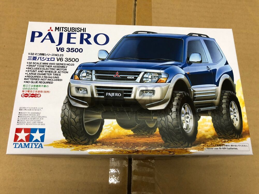 tamiya 19023 1 32 mini 4wd mitsubishi pajero v6 3500 scale model kit ebay. Black Bedroom Furniture Sets. Home Design Ideas