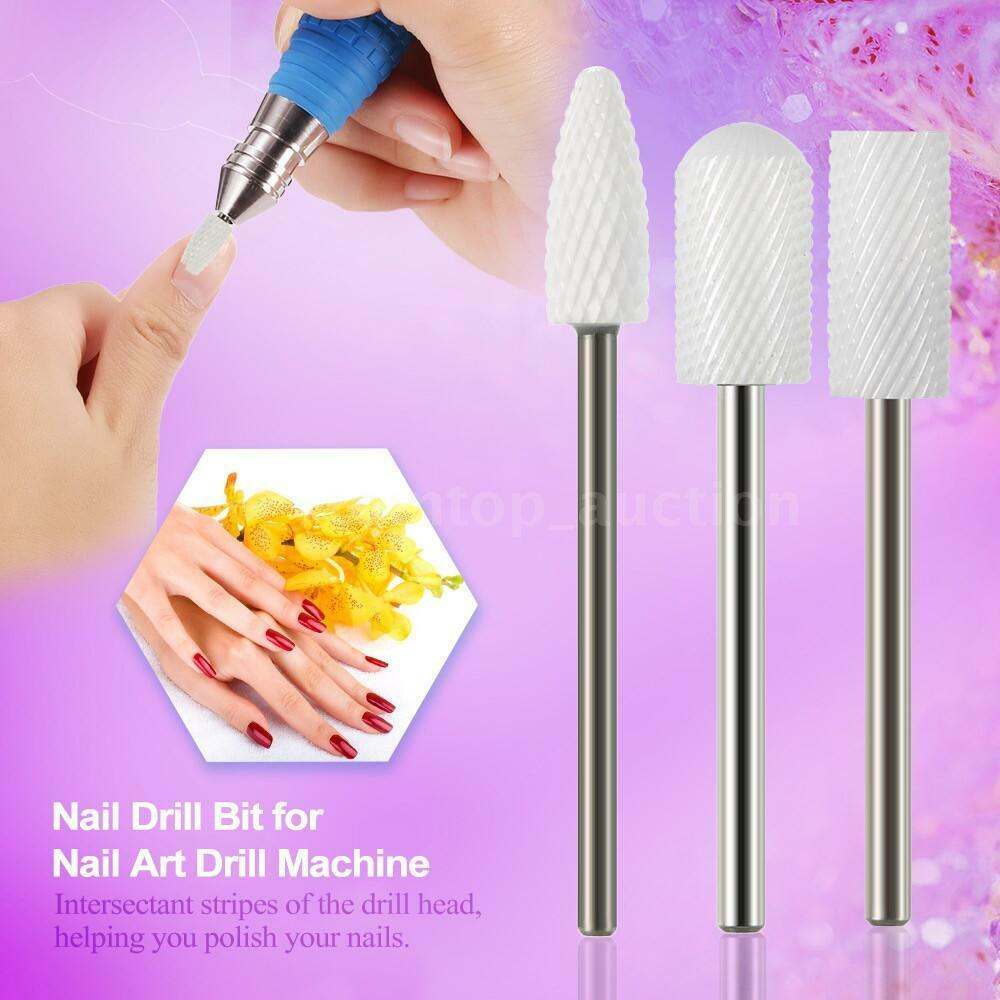CERAMIC NAIL FILE DRILL BIT FOR NAIL ART MACHINE GRINDING STONE HEAD ...