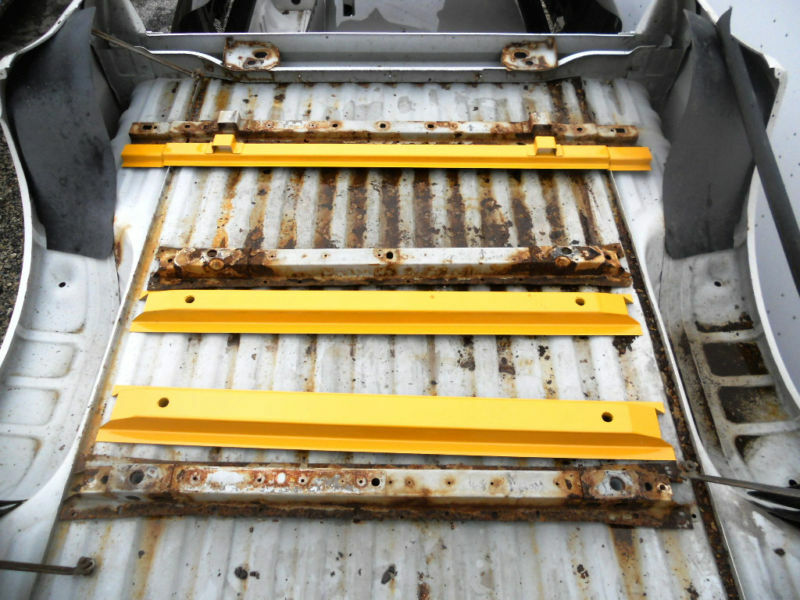 Replacement Bed Rails FORD SUPER DUTY SHORT BED FLOOR SUPPORT(3) CROSSMEMBERS ...