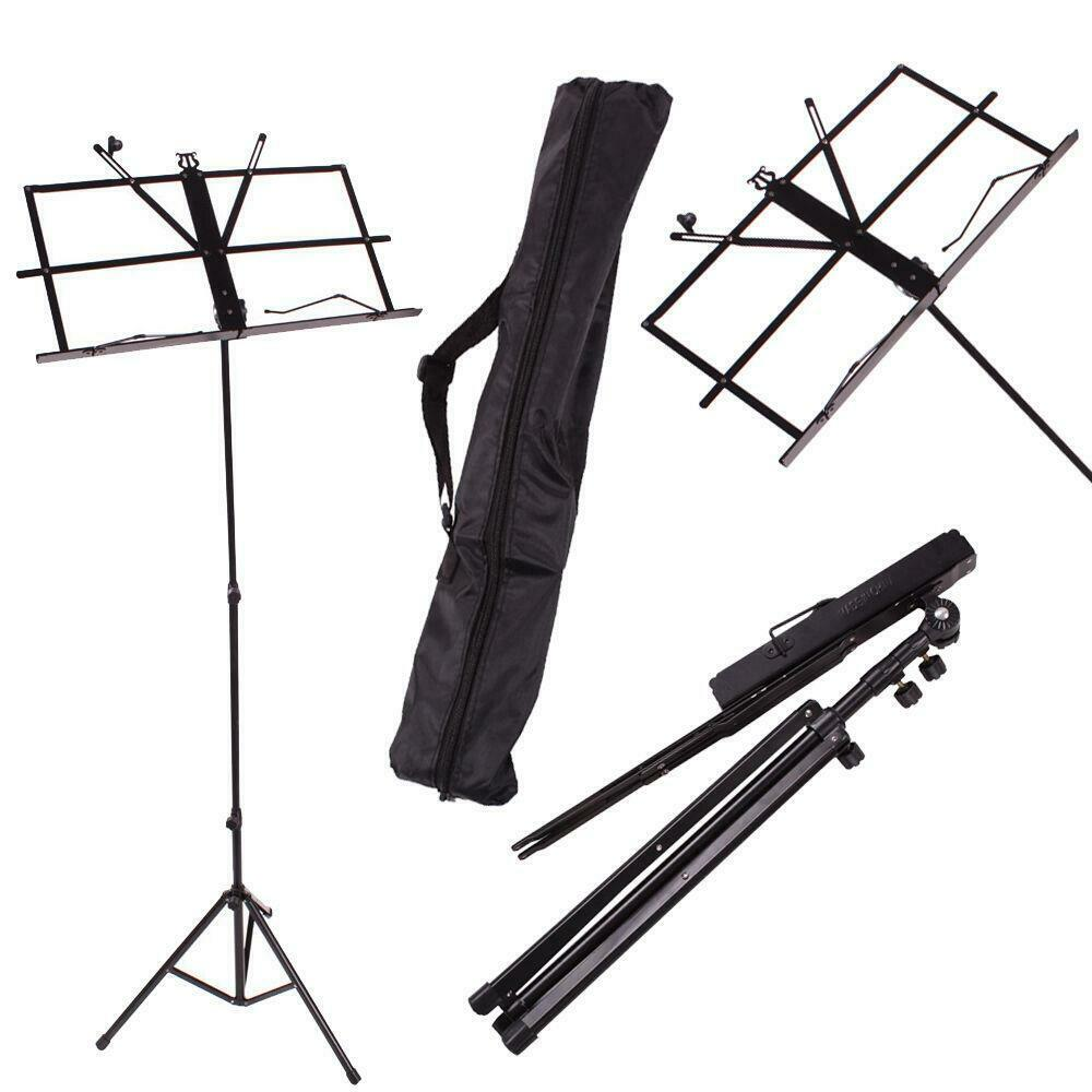new adjustable protable folding music sheet stand for musicians with gift bag ebay. Black Bedroom Furniture Sets. Home Design Ideas