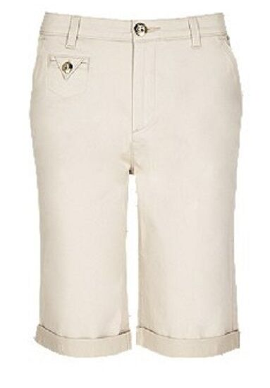 6bfa203f6ef Details about Ex M S Roma Rise Chino Shorts Cargo Knee Length Marks    Spencer Per Una