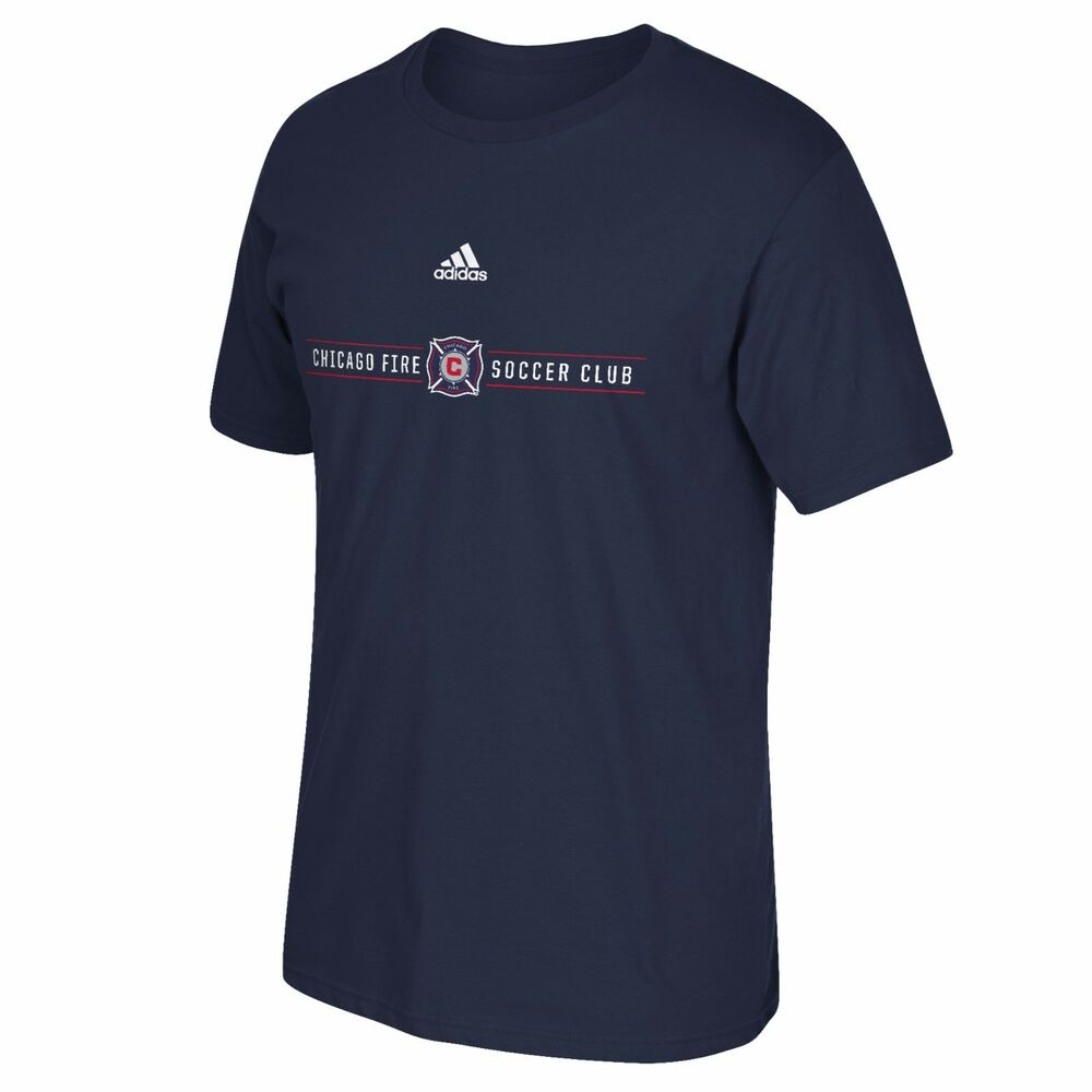 chicago fire soccer club the go to tee adidas t shirt ebay. Black Bedroom Furniture Sets. Home Design Ideas
