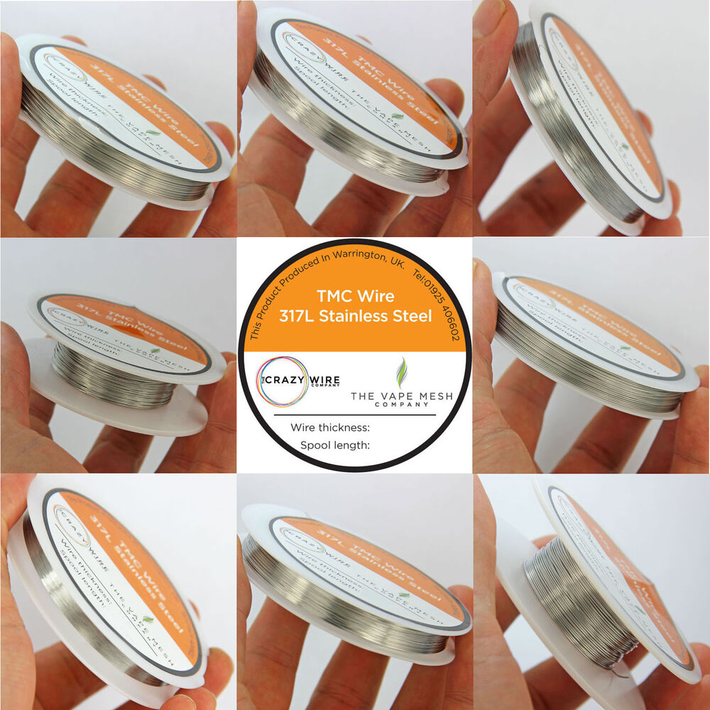 SS317L Grade Stainless Steel (TMC) Round Wire by The Crazy Wire ...