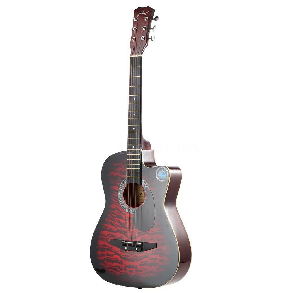 38 6 string folk acoustic guitar for beginners music lovers students gift x3y8 ebay. Black Bedroom Furniture Sets. Home Design Ideas