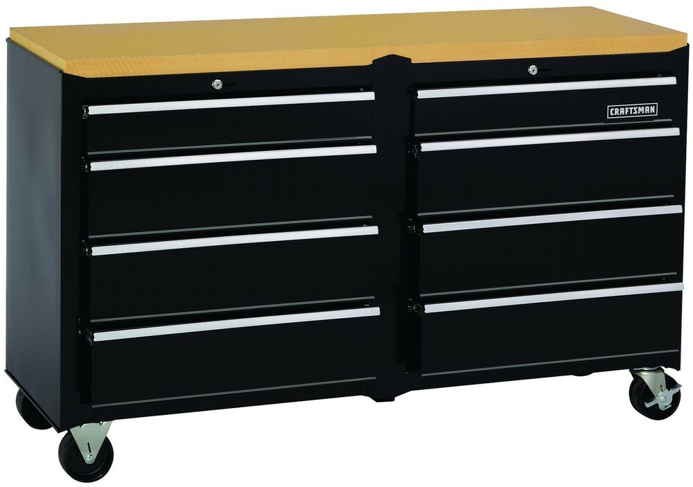 Tool Box Ball Bearing 8 Drawer Slides Cabinet Hard Work