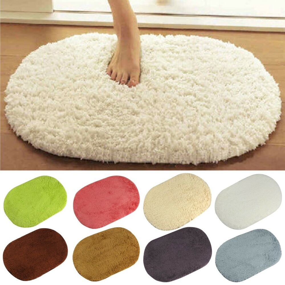 Plush Bathroom Rug Sets: Absorbent Soft Memory Foam Bath Bathroom Floor Shower Mat