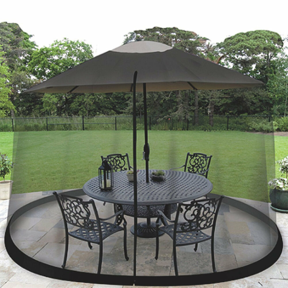 Outdoor mosquito net patio umbrella bug screen gazebo - Insect netting for gazebo ...