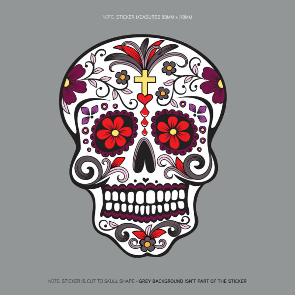 Day Of The Dead - Calavera - Sugar Skull - Flower - Decal/Sticker - SKU1123