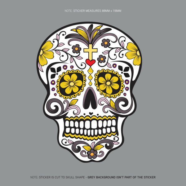 Day Of The Dead - Calavera - Sugar Skull - Flower - Decal/Sticker - SKU1125