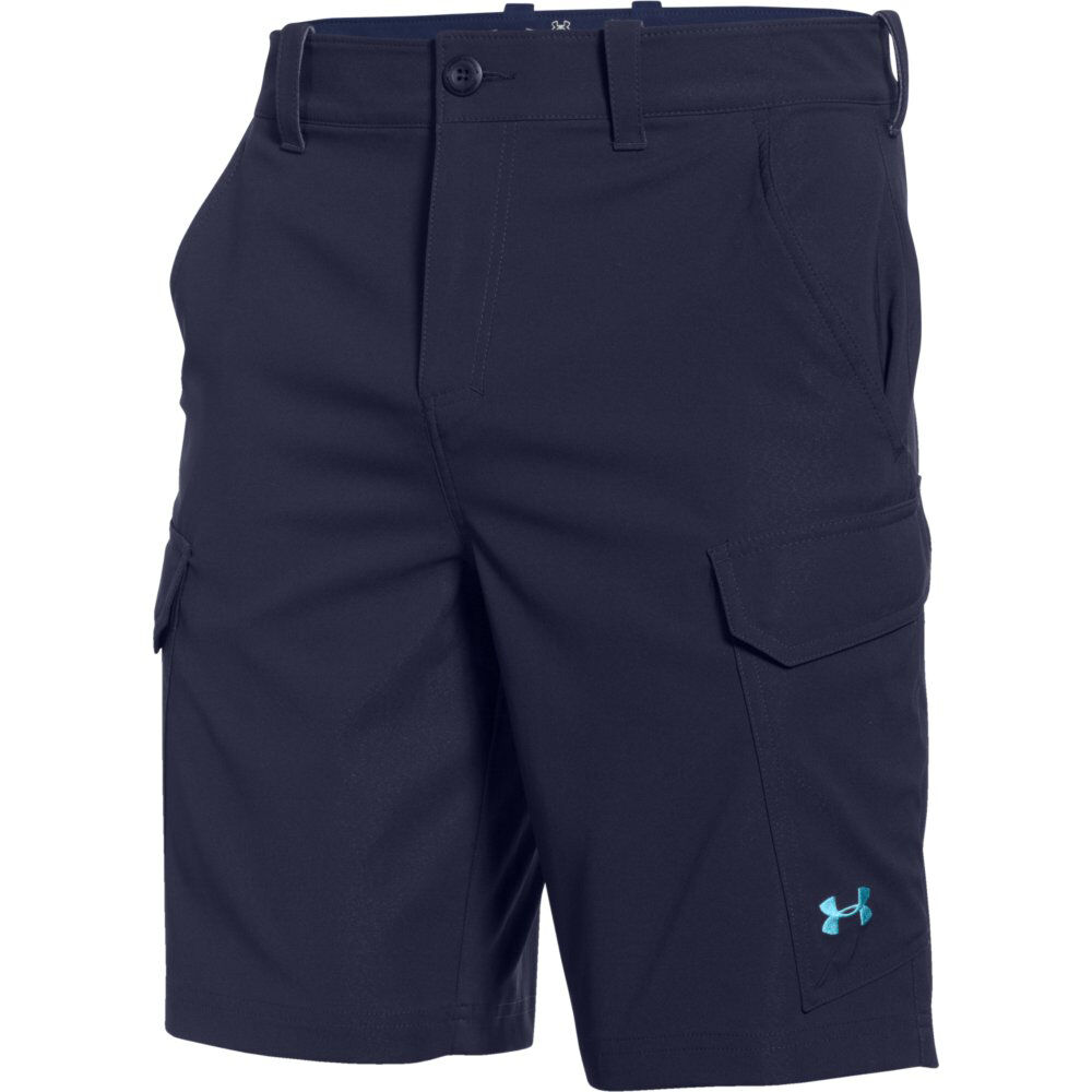 Under armour fish hunter cargo shorts 1244207 410 navy ebay for Under armour fishing shorts