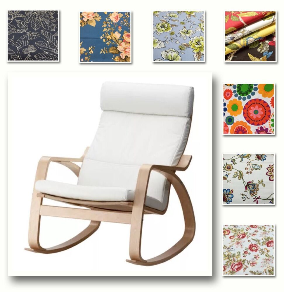 Custom Made Chair Cover Fits Ikea Poang Armchair Patterned Fabrics Ebay