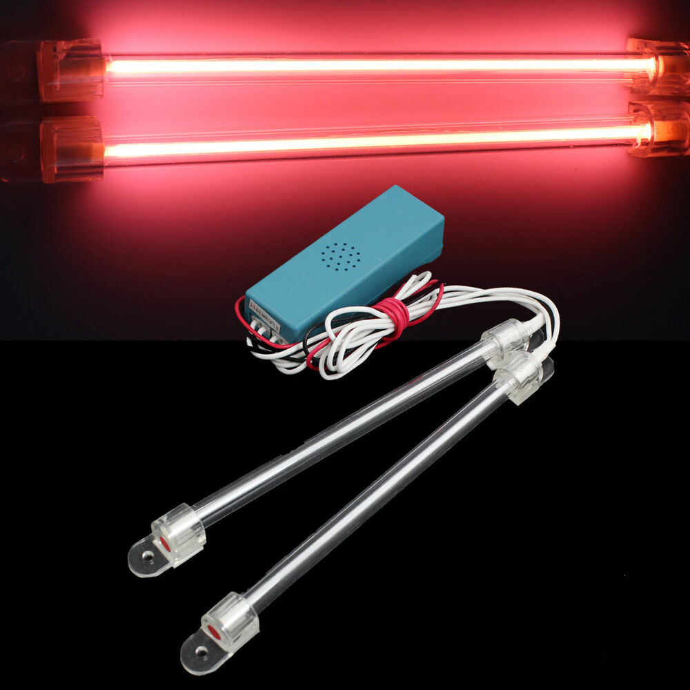 Fluorescent Light Glowing Red: Car CCFL Tube Interior Neon Red Fluorescent Lights