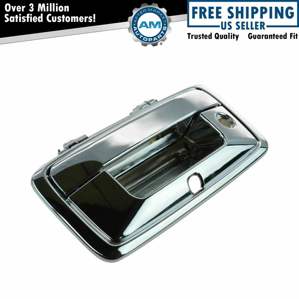 Rear Tailgate Handle Chrome Finish For Silverado Sierra