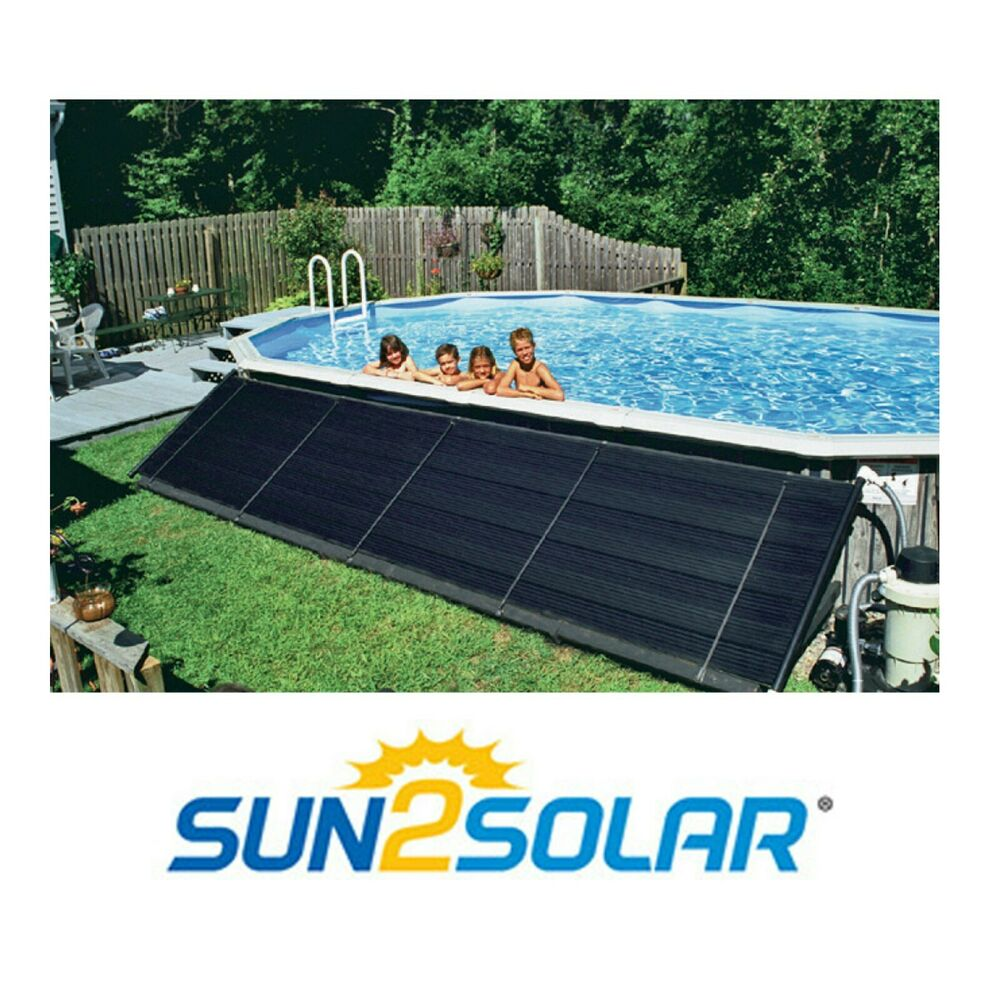 4 39 X20 39 Above Ground In Ground Pool Solar Heating Panels Two 2 39 X20 39 W Kit Ebay
