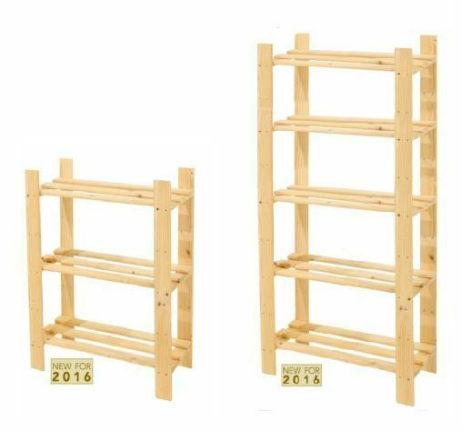 Solid Wood Wooden Storage Shelf Shelving Unit Bookcase