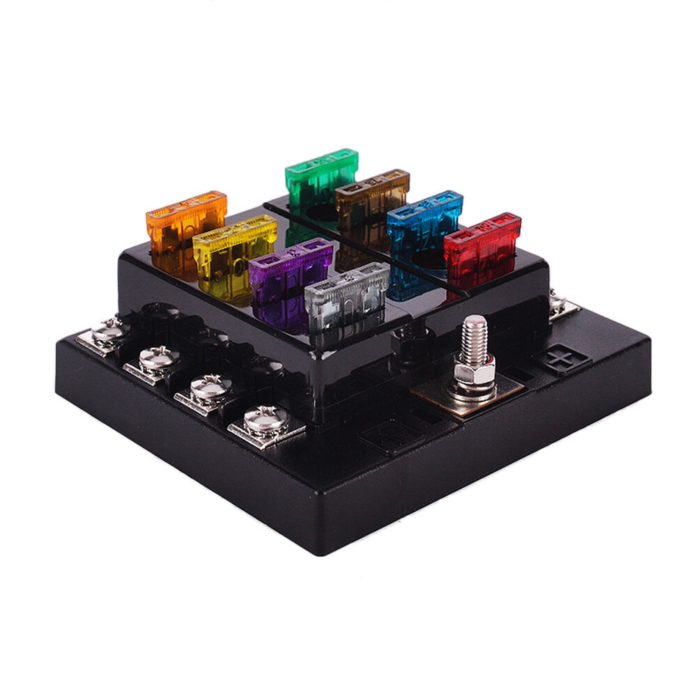 8 way circuit boat marine car fuse box 32v dc blade fuse. Black Bedroom Furniture Sets. Home Design Ideas