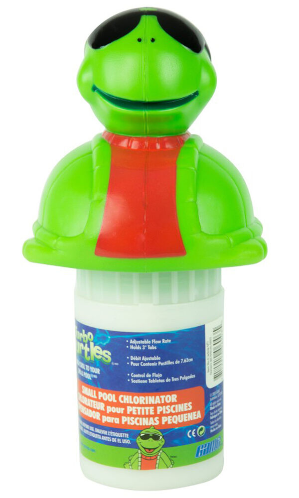 Game small turbo turtle swimming pool chlorine chemical chlorinator feeder ebay for Chlorination of swimming pools